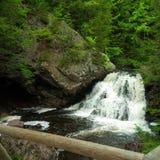 瀑布和水池在一个公园在特鲁罗,新斯科舍 免版税库存图片