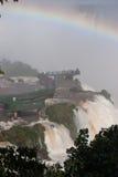瀑布和brigde在pricipice附近 库存照片