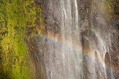 瀑布圣拉蒙奥梅特佩岛海岛 免版税图库摄影