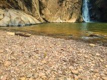 瀑布在一个国家公园在巴西 免版税库存图片