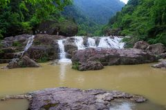 瀑布在中国 库存图片