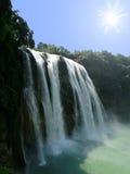 瀑布在中国 免版税库存图片