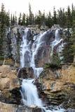 瀑布在亚伯大加拿大 库存图片