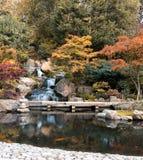 瀑布在伦敦在秋天 库存照片