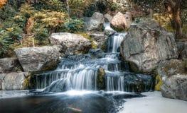 瀑布在伦敦在秋天 免版税库存照片