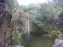 瀑布在住处邦巴, CÃ ³ rdoba,阿根廷 库存图片