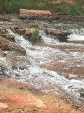 瀑布在俄克拉何马 库存图片