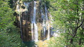 瀑布在克罗地亚 库存照片