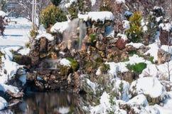 瀑布在公园 免版税图库摄影