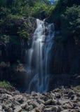 瀑布在农村中国 免版税库存图片