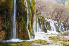 瀑布在冬天 免版税图库摄影
