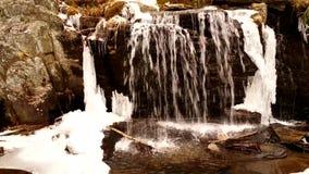 瀑布在冬天 股票视频