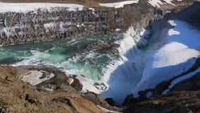 瀑布在冰岛