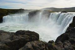 瀑布在冰岛 库存照片