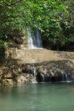 瀑布在北碧,泰国 免版税库存照片