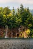 瀑布在国家公园Plitvice 免版税库存照片