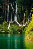 瀑布在国家公园Plitvice 库存图片