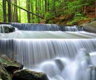 瀑布在国家公园Sumava 库存图片