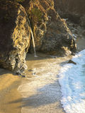瀑布在大瑟尔 免版税库存照片