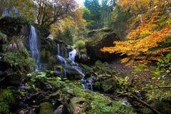 瀑布在奥韦涅在法国 库存照片