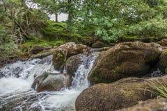 瀑布在威尔士 库存照片