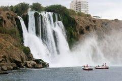 瀑布在安塔利亚 库存照片