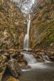 瀑布在山峡谷 Vandam Gabala 阿塞拜疆 免版税库存照片