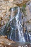 瀑布在峡谷 免版税库存图片