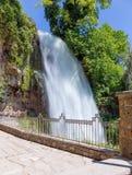 瀑布在市的公园Edessa,希腊 免版税库存图片