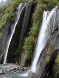 瀑布在弗朗兹约瑟夫谷 库存图片