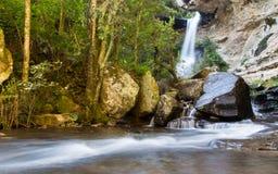 瀑布在德肯斯伯格,南非 库存照片