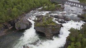 瀑布在挪威 影视素材