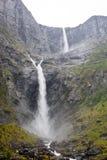 瀑布在挪威 免版税图库摄影