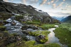 瀑布在挪威 免版税库存照片