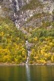 瀑布在挪威 库存图片