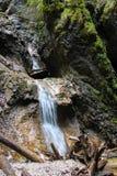瀑布在斯洛伐克天堂 库存图片