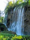 瀑布在普利特维采湖群国家公园在克罗地亚 库存照片
