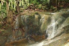 瀑布在曼诺瓦里 库存照片
