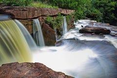 瀑布在柬埔寨 库存图片