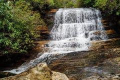 瀑布在桌山 库存图片