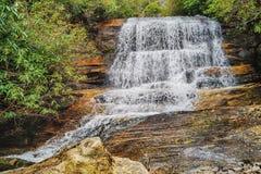 瀑布在桌山 库存照片