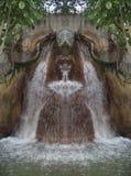 瀑布在森林反映了2 库存图片