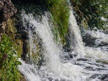 瀑布在河文塔的Ventas仑巴舞Kuldiga的,拉脱维亚,选择聚焦,浅DOF 图库摄影