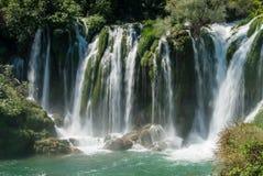 瀑布在波斯尼亚黑塞哥维那 免版税图库摄影
