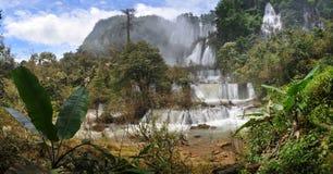 瀑布在泰国 库存图片