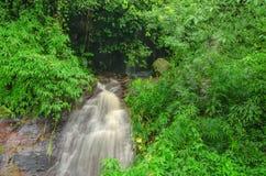 瀑布在清莱的,泰国密林 免版税图库摄影