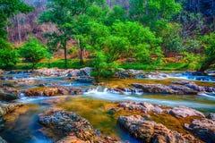 瀑布在清迈泰国 免版税库存图片