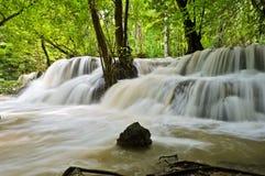 瀑布在热带雨林里 免版税图库摄影