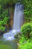 瀑布在禅宗庭院里 免版税库存照片