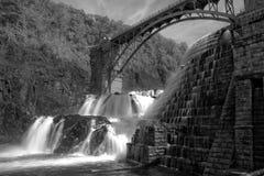 瀑布在纽约州 库存照片
